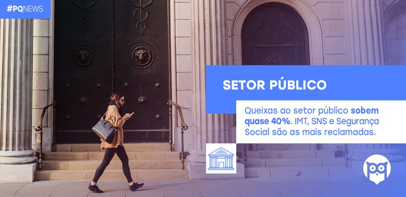 Queixas dirigidas ao setor público registam subida de quase 40%