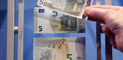 Nova nota de 5 euros, foi apresentada hoje.